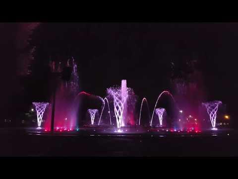 Music Fountain on Margaret Island, Budapest, Hungary, Ed Sheeran - Shape of You