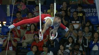Carlos Yulo dominated the men's artistic gymnastics individual all-around final | 2019 SEA Games