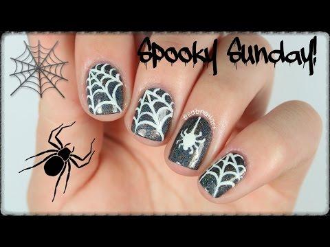 Spooky Sunday⎟Spider Nail Art