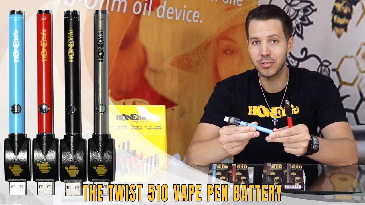 The HoneyStick TWIST Vape Pen Battery w/ Variable Voltage for 510 Thread  Prefilled Cartridges