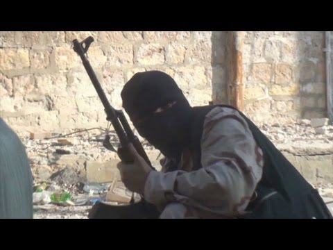 Exclusive video of rebel snipers fighting in Syria