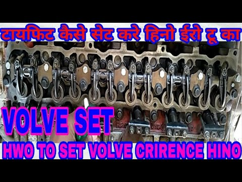 How To Volve Clirence Firing Ouder, For Hino Engine Earo II, By Mechanic  Gyan,