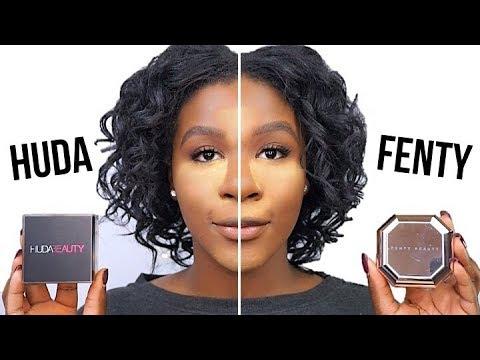 FENTY BEAUTY vs. HUDA BEAUTY! l WHICH POWDER IS BETTER?