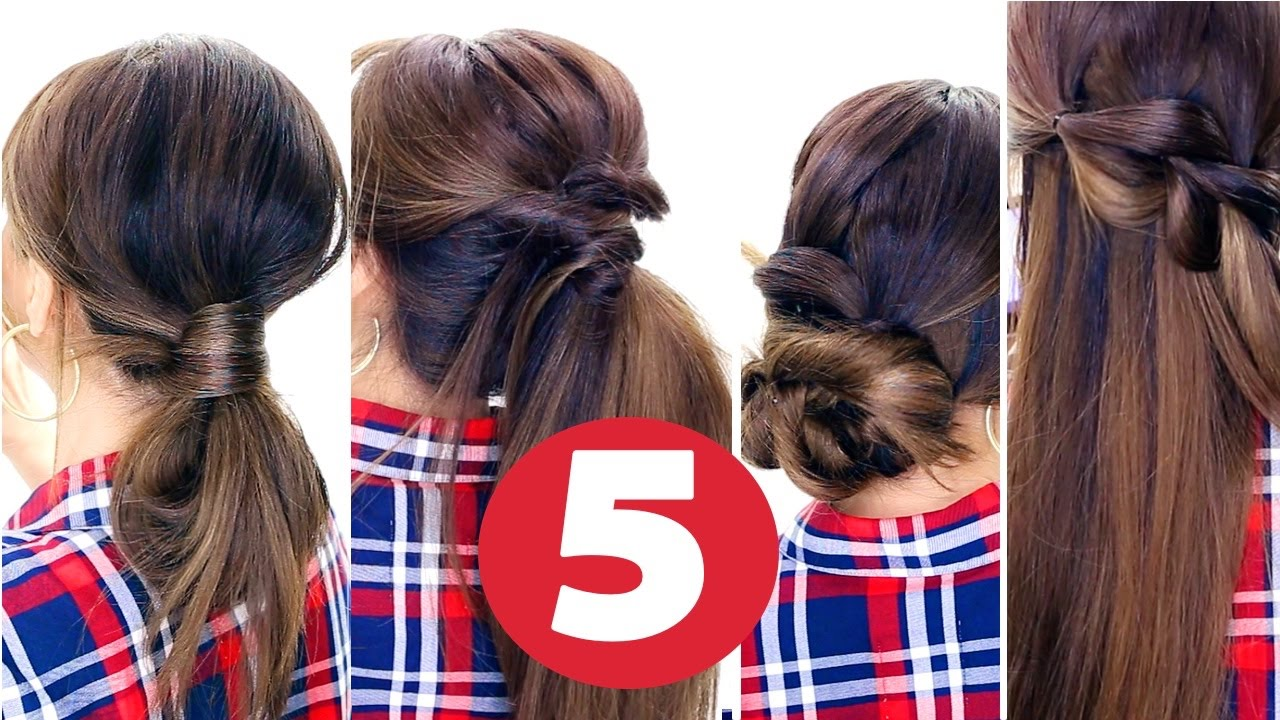 5 easy lazy hairstyles ★| everyday cute hairstyles