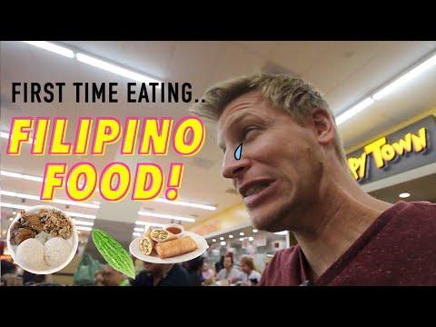 First time eating Filipino Food || FOOD TASTE TEST