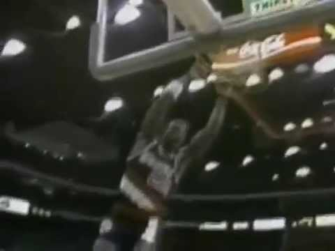 Clyde Drexler Two Handed off the Glass 1988