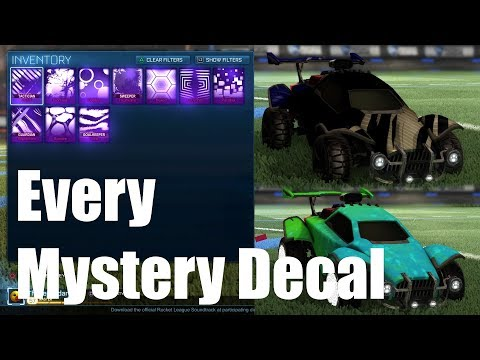 All 10 Mystery Decals In Rocket League! - Best Designs For Mystery Decals In Rocket League! *OLD*