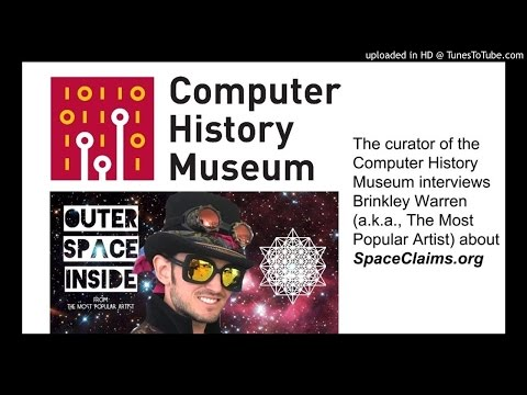 The Most Popular Artist is interviewed by the curator of the Computer History Museum about his histo