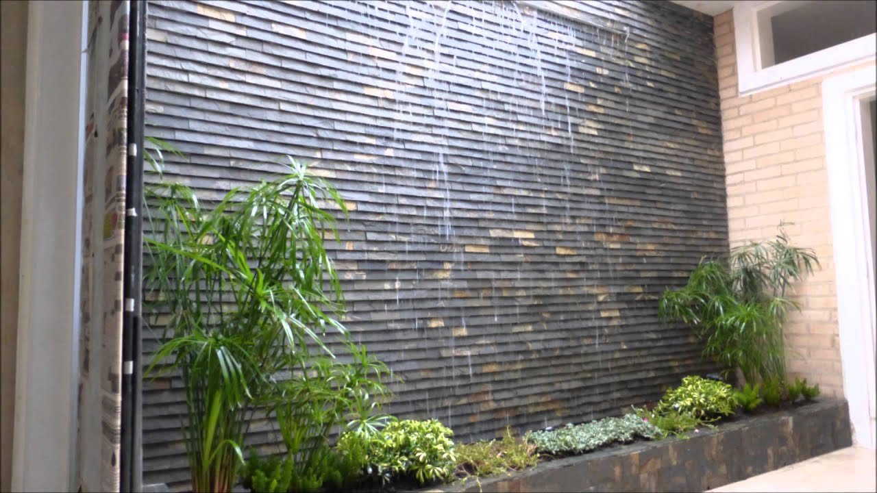 Cascada de pared youtube for Cascadas para jardines casas