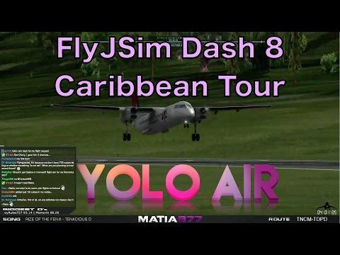FlyJSim Bombardier Dash-8 | Caribbean Tour TNCM-TPDP | 10 Lug 2015
