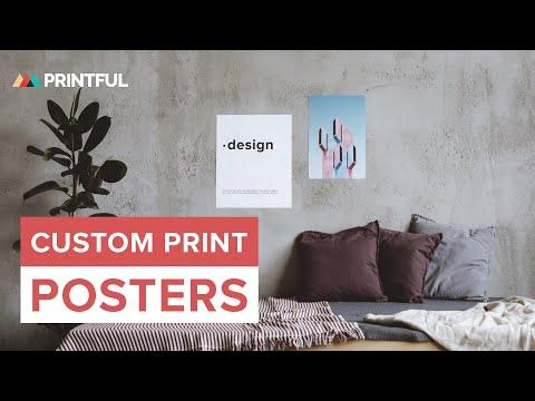 Custom Print Posters: Printful How It's Made