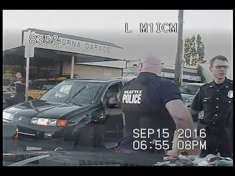 Seattle Police, terminated chase, crash/arrest scene at 5:20