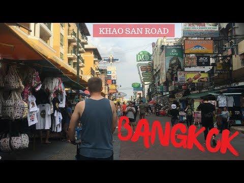 Khao San Road and riding a tuk tuk   THAILAND travel