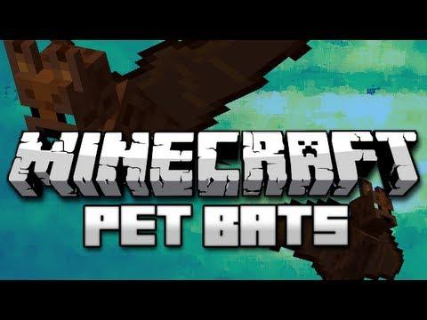 Minecraft Mods: Tameable Bats! (Pet Bats Mod) - YouTube