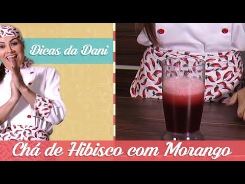CHÁ DE HIBISCO COM MORANGO | Dicas Da Dani | Cook Fit