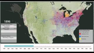 Dot Density Maps of Votes for President, 1840 - 2008
