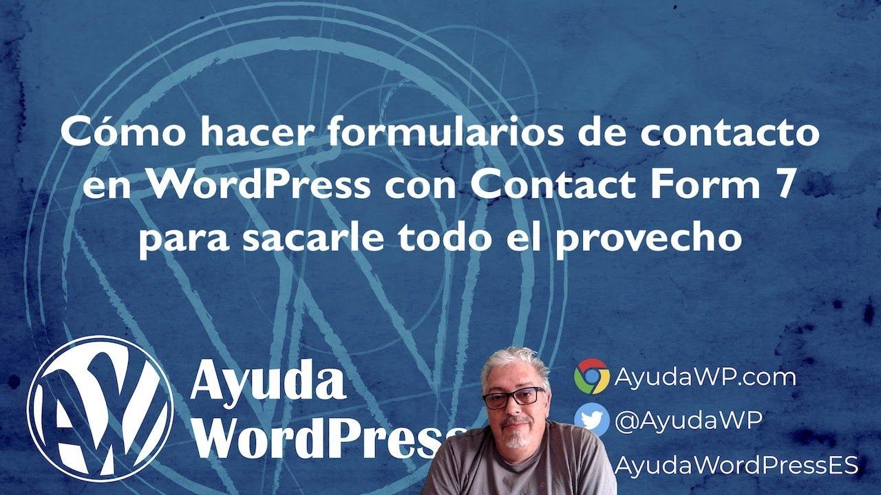 Cómo hacer formularios en WordPress con Contact Form 7