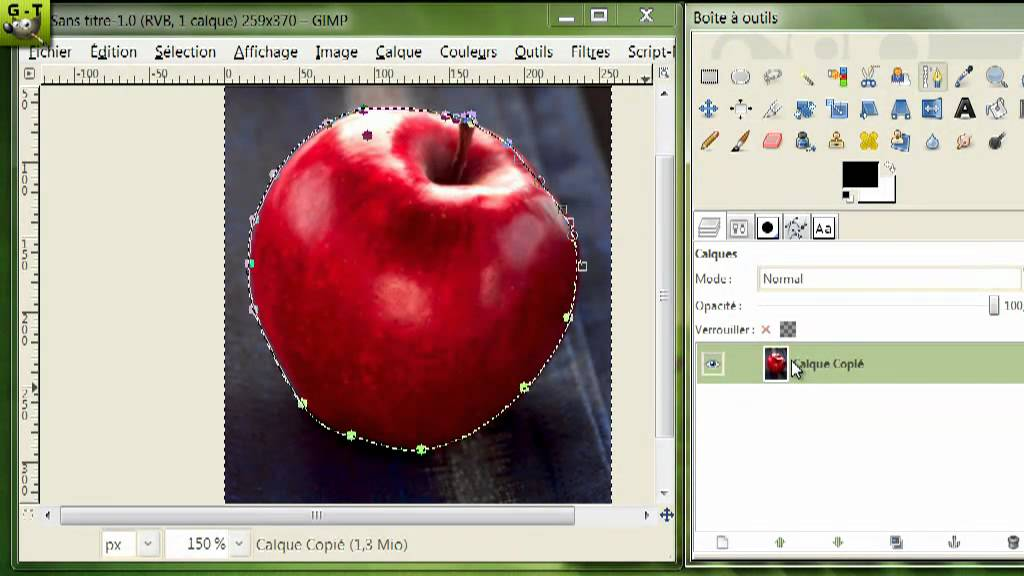 Gimp tuto n 10 d coupage d 39 image et pr sentation - Logiciel simple pour faire des plans ...