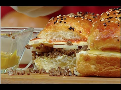طريقه عمل برجر لحمة  برجر دجاج  صينية خبز تشيز كيك للشيف غفران كيالي علي فوود