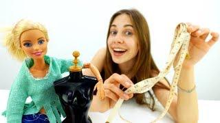 Барби в ателье - Шьем блузку для куклы. Видео для девочек