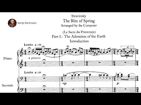 Igor Stravinsky - The Rite of Spring arr. for piano 4 hands by the composer