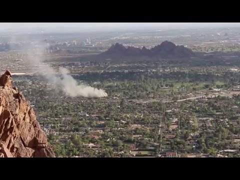 Camelback Mountain View of Phoenix House Fire