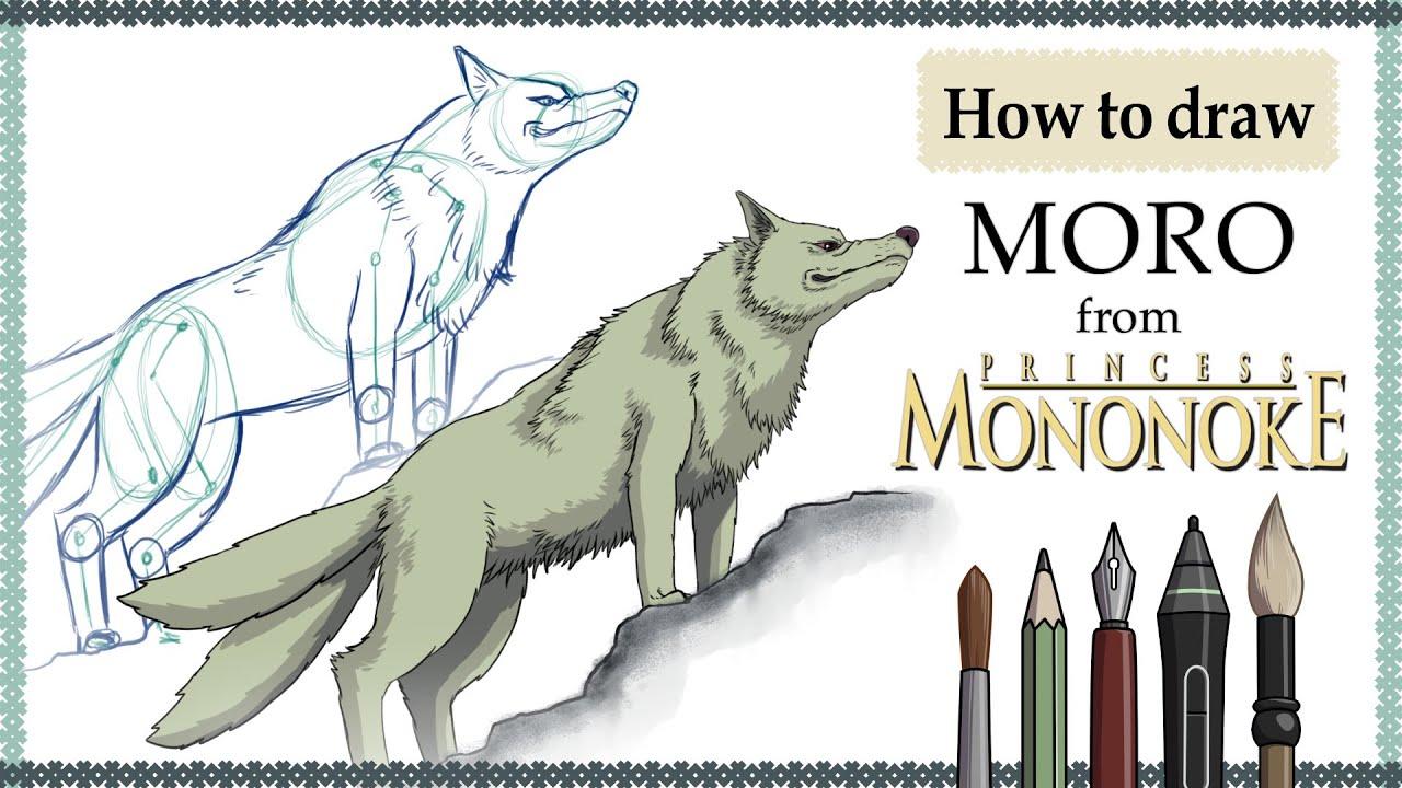 How To Draw Moro Princess Mononoke Mink S Tutorials Youtube