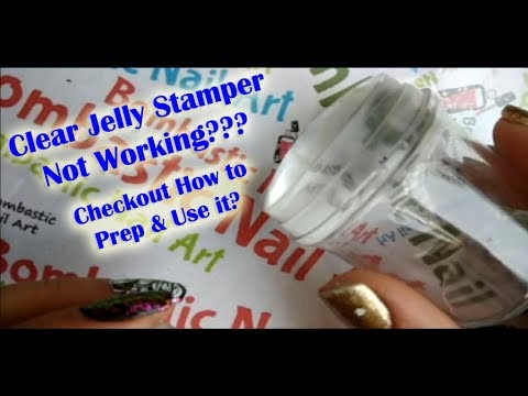 Clear Jelly Stamper Not Working? Checkout How to Prep & Use it? | Bombastic Nail Art