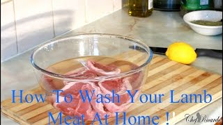 Video How To Wash Your Lamb Meat At Home !! download MP3, 3GP, MP4, WEBM, AVI, FLV Desember 2017