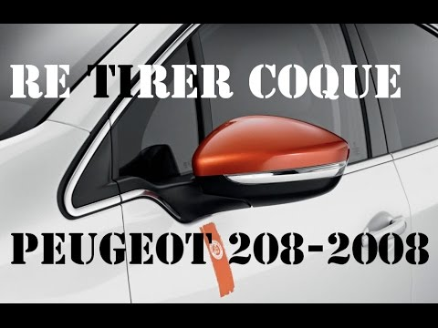 changer coques de r troviseur peugeot 208 2008 youtube. Black Bedroom Furniture Sets. Home Design Ideas