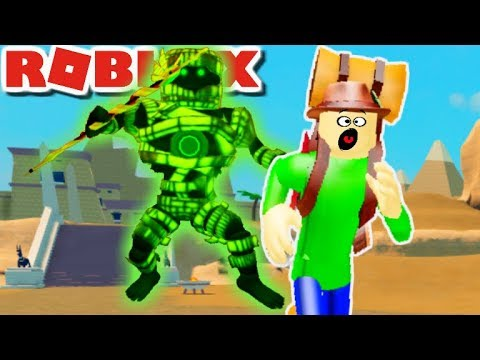 CAN CAMPING BALDI SURVIVE THE EGYPTION MUMMY? | Roblox: Time Travel Mummy Mystery/ Lives