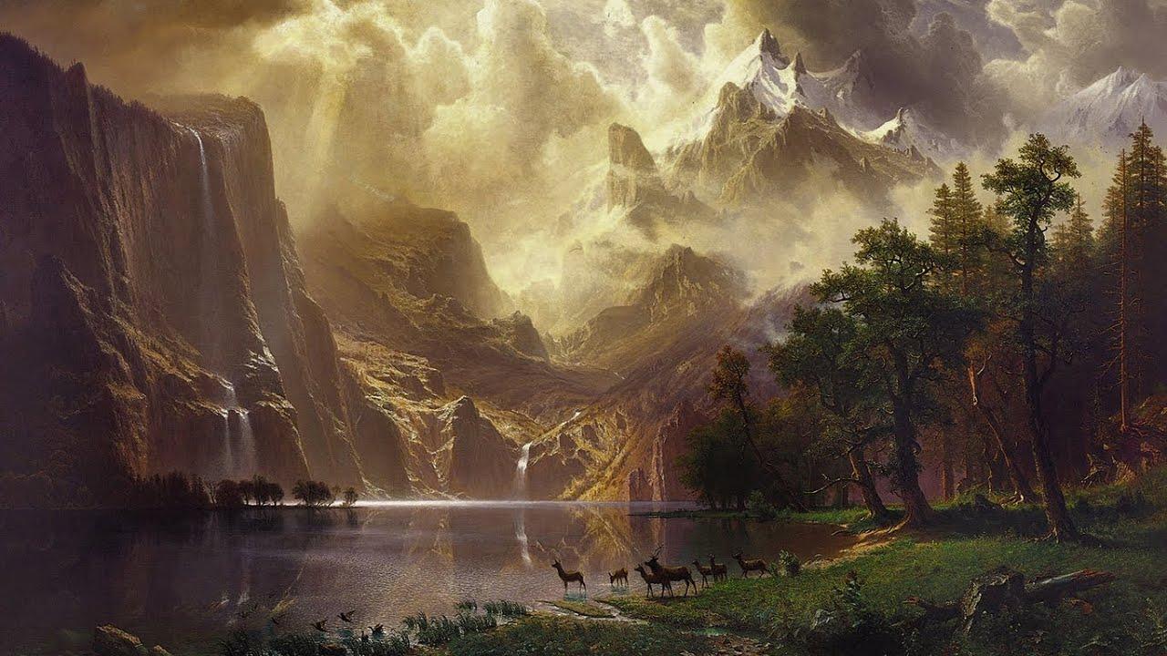 Albert Bierstadt S Quot Among The Sierra Nevada Mountains