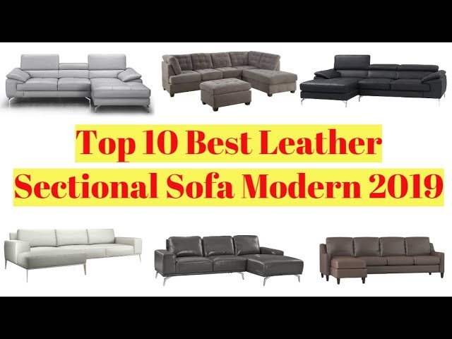 Top 10 Best Leather Sectional Sofa Modern 2019