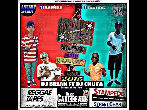 DJ BRIAN Ft DJ CHUTA - RAW AND CLEAN DANCEHALL MIXTAPE JAN 2015