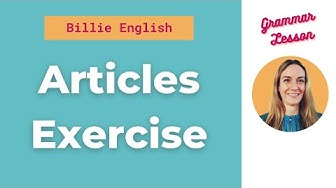 Articles Exercise