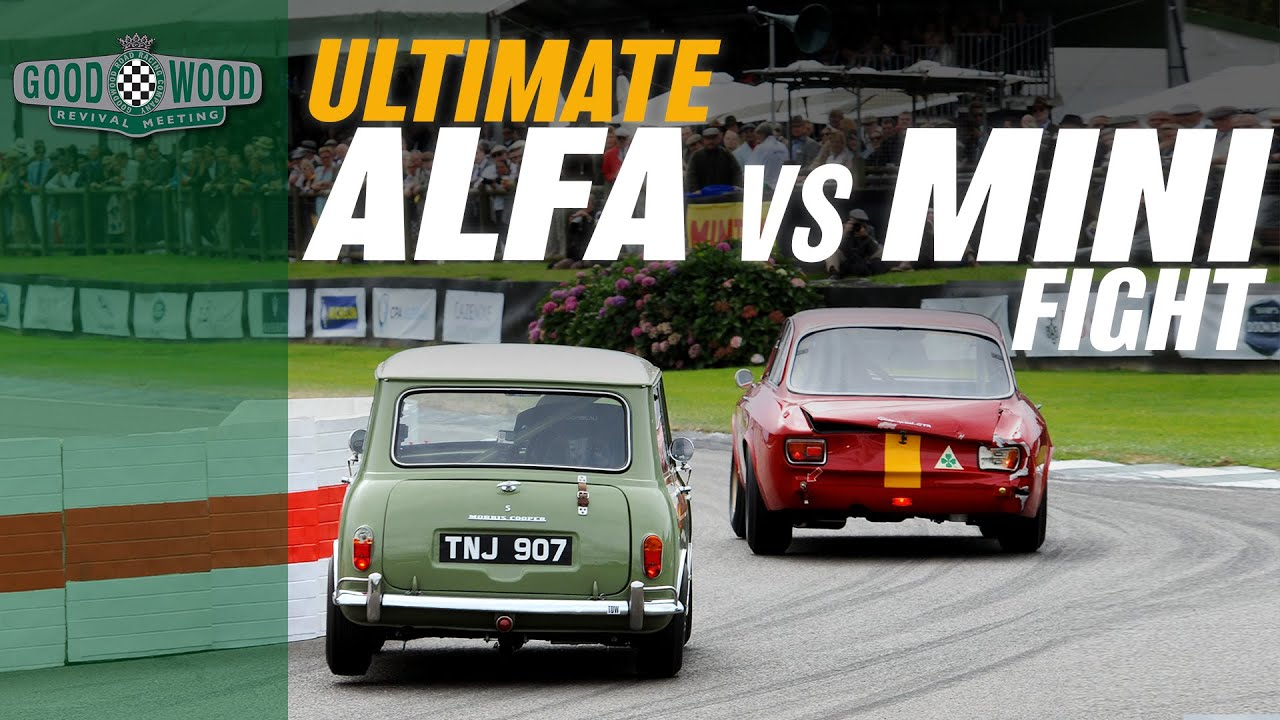 Download Ridiculous Mini v Alfa GTA track battle at Goodwood