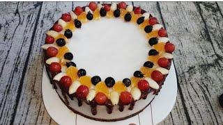 Веганский торт-суфле без выпечки, без глютена