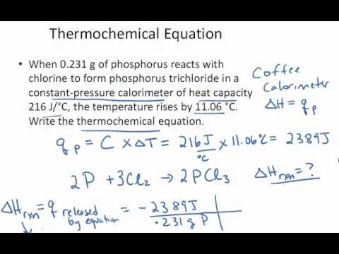 Thermochemical Reaction Example