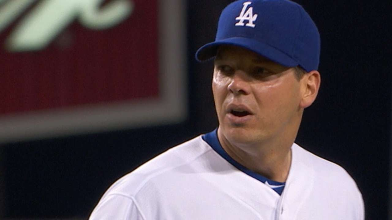 Dodgers blast Reds with four home runs and Rich Hill pitches a gem
