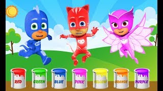 pj masks learn colors kids with ABC Songs