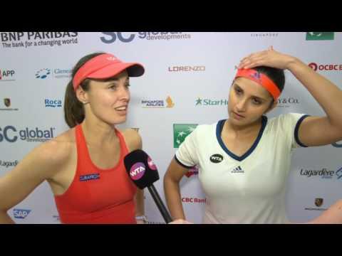 Martina Hingis & Sania Mirza Post-Match Interview | 2016 WTA Finals Singapore