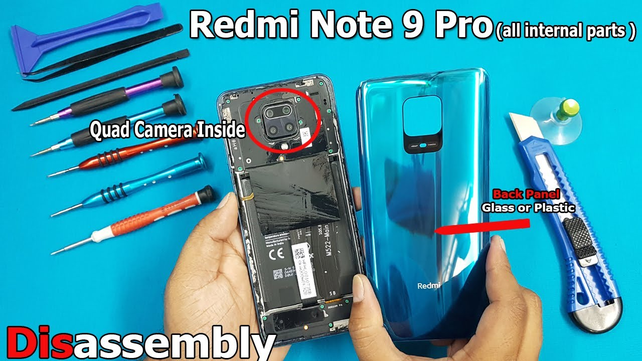 Redmi Note 9 Pro Teardown / Disassembly | How to Open Redmi Note 9 Pro | all internal Parts