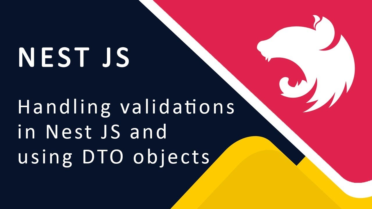 Validatioin in Nest JS and DTO objects   Nest JS Node JS tutorials - 04