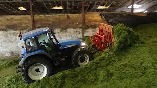 Fell Silage - On the Pit - Buckraking with New Holland TM155 - Silage 2018