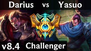 DARIUS vs YASUO (TOP) // EUW Challenger // Patch 8.4