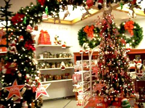 MJ fan Angie..looking at Christmas trees in MACY'S Dept. Store ...