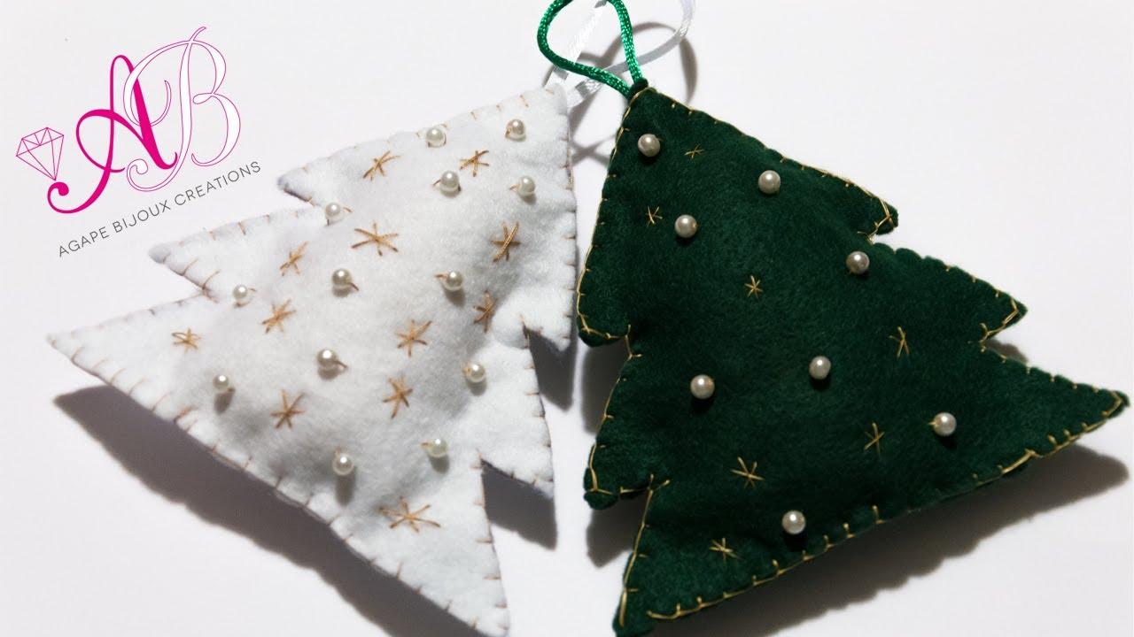 Bien connu DIY Tutorial: Decorazione natalizia con pannolenci e perline  OA51