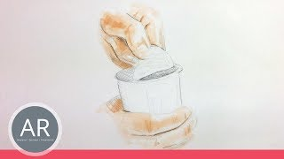 Hände zeichnen lernen. Hand-Studie. Mappenvorbereitungskurs Produkt-Design.
