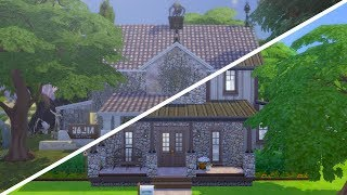 Building a House in The Sims 4 While Very Sick CHALLENGE (Streamed 2/12/19)