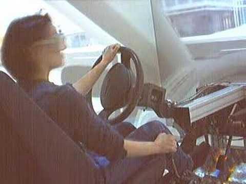 Busy Crossroad Scenario in a CAVE